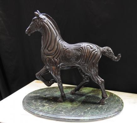 Espagnol Cheval de bronze Statue Sculpture Art Absract Picasso