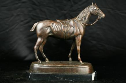 Français Cheval de bronze Statue équestre Poney Chevaux