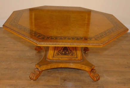 George Bullock Regency Dining Table Noyer Inlay