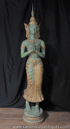 Grand Bronze népalais Statue de Bouddha bouddhisme bouddhiste