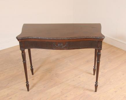 Jeux acajou carte Chippendale Table d'appoint Tables Meubles