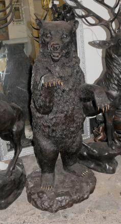 Lifesize Bronze Grizzly américains ours brun Animaux