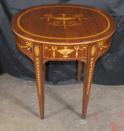 Sheraton Centre Regency Side Table Inlay Marqueterie