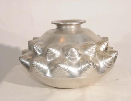 Silver Bronze Lalique Art Nouveau Snail Bowl Dish Planter Urn