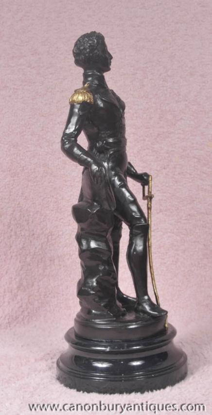 statue en bronze duc de wellington figurine waterloo anglais militaire. Black Bedroom Furniture Sets. Home Design Ideas