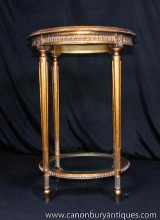 Tables français Empire doré Table d'appoint occasionnelle