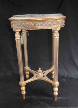 Tables français Regency Neo Classic doré Tableau Side
