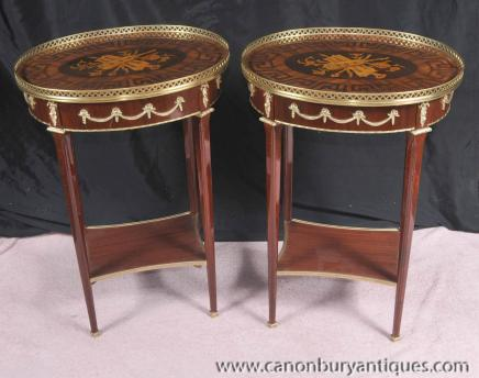 Tables paire Louis XV secondaires Inlay Sofa Table Meubles