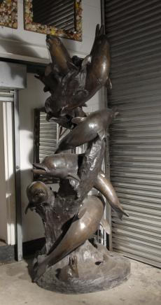 10 m Bronze Dolphin Fountain Fontaines architectural