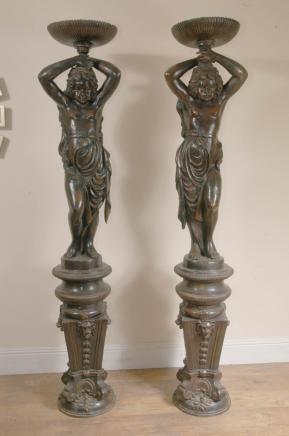 7èmes français Statues Bronze Fontaines Cherub