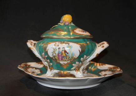 Allemande de Dresde Assiette en porcelaine Terrine Dish Bowl
