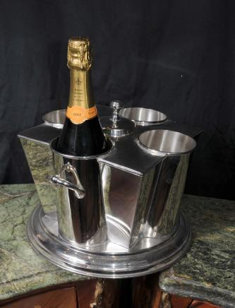Anglais Argent Plate Vin Champagne Cooler