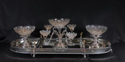 Anglais Sheffield Silver Plate Centrepiece Gamelle Bol épergne