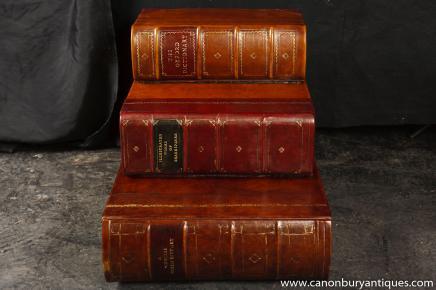 Anglais antique Bibliothèque d'escalier Faux Livres littéraire