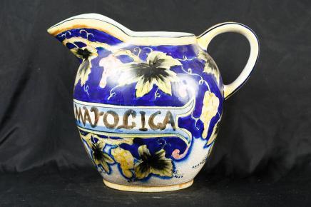 Anglais majolique Porcelaine Poterie Jug Vases vaisselle