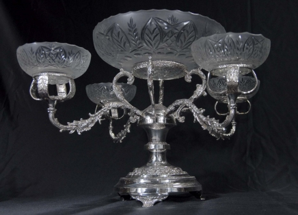 Anglais plaqué argent rococo vaisselle Epergene Centrepiece Bowl