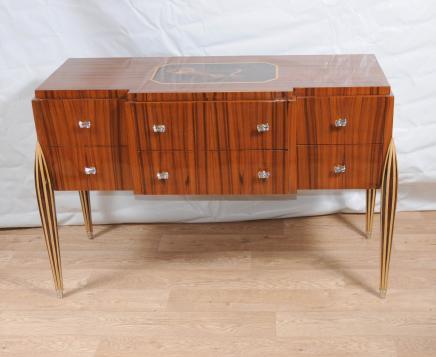 Art Déco Buffet Buffet serveur poitrine tiroirs Inlay meubles