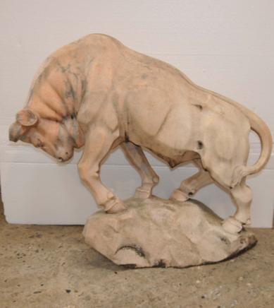 Art Déco en marbre italien chèvre sculpté Ram