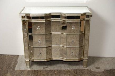 art d co miroir serpentine poitrine tiroirs commode. Black Bedroom Furniture Sets. Home Design Ideas