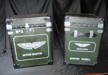 Box paire Aston Martin voitures bagages Case Trunks