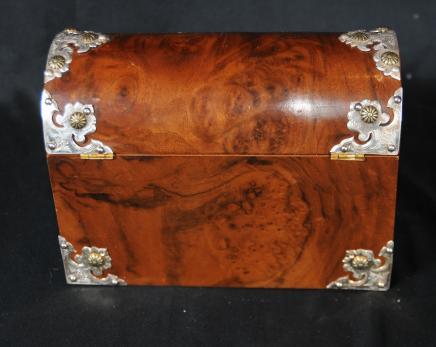Box victorienne Noyer Papeterie Case Lettre