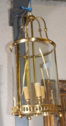 Brass Lantern français Lampe Lustre
