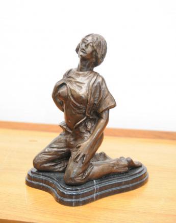 Bronze érotique Femme Figurine Statue Sexy Lady