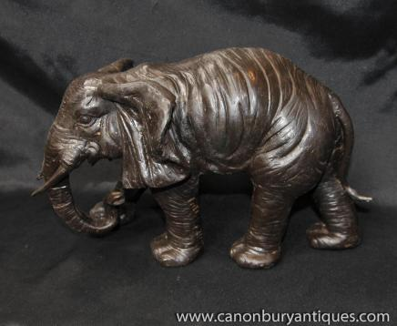 Bronze African Elephant Statue coulée Art tribal