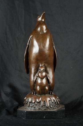 Bronze Chick Manchot empereur Penguins Oiseaux