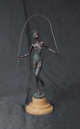 Bronze Déco érotique Whiplash Passer Figurine de Milo