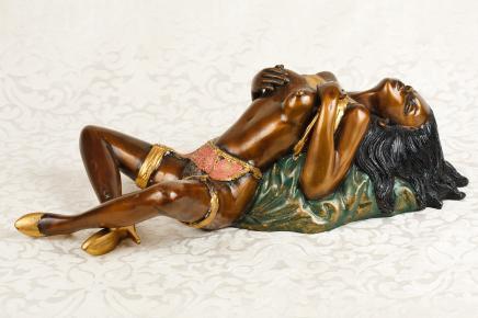 Bronze Femme nue Figurine Sexy Burlesque Dancer nu Fille érotique kitsch