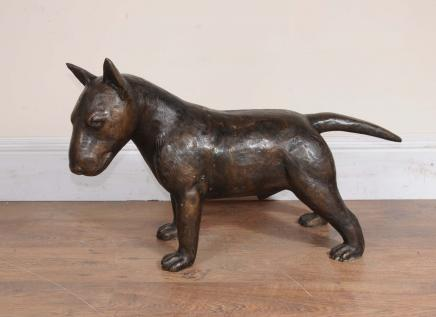 Bronze bull-terrier anglais Statue Lifesize