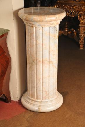 Carrera piédestal en marbre socle colonne de tableau