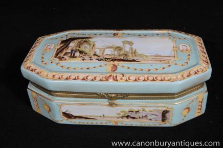 Case allemand porcelaine de Meissen Coffret à bijoux Coffret Bijou
