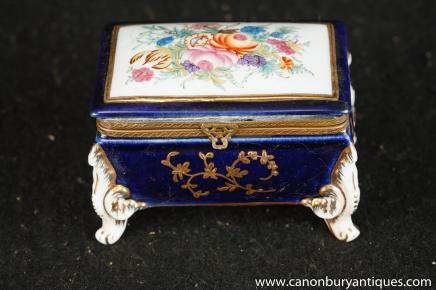 Case porcelaine de Meissen Floral Box Bijoux Bijou