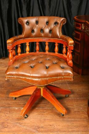 Cuir bureau Mobilier de bureau Siège Chaise pivotante capitaines remous