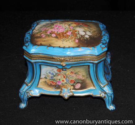 Dresde Porcelaine Boîte à bijoux Bijou de cercueil
