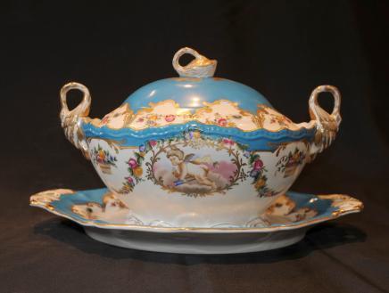 Dresde porcelaine Chérubin Soupière allemand vaisselle Bowl