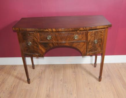 Edwardian Buffet serveur flamme Acajou Commode