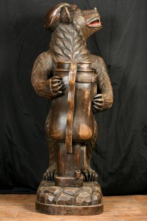 Forêt-Noire allemande Ours-parapluie Statue sculpté