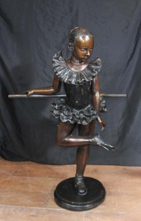 Français Bronze Ballerina Statue Fille Degas Figurine Danseur de ballet