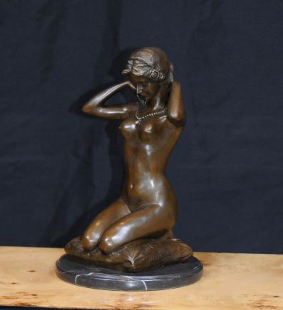 Français Bronze Femme nue Statue Figurine Femme Nue Erotic Art