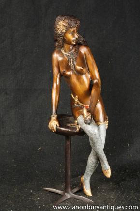 Français Sexy Lady Femme nue Statue Figurine Erotic Art Burlesque