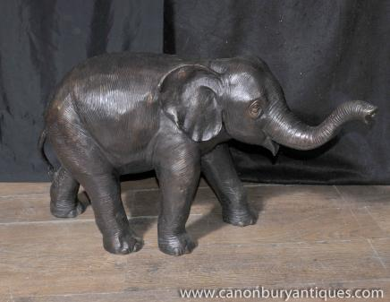 Grand Bronze Elephant Statue architectural Jardin Art