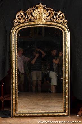 Grand anglais George II doré Pier verre miroir Miroirs