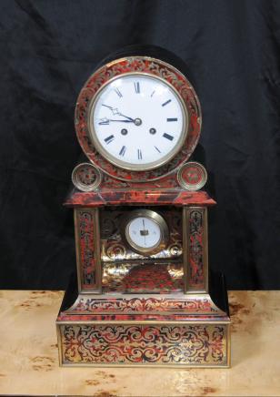 Horloge Antique Boulle incrustation français Mantel