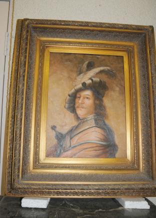 Huile néerlandais Peinture Noble cadre doré Huiles Art