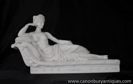 Italienne Femme nue Pierre Staue Vénus déesse de l'amour romaine Mythe