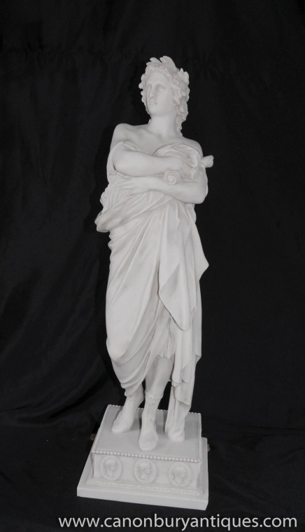Italienne White Stone Apollo Statue Figurine romain mythe