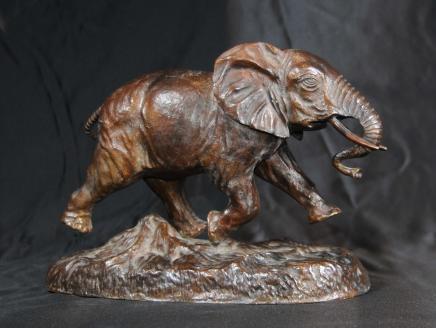 La fonte de bronze éléphant Statue Animaux